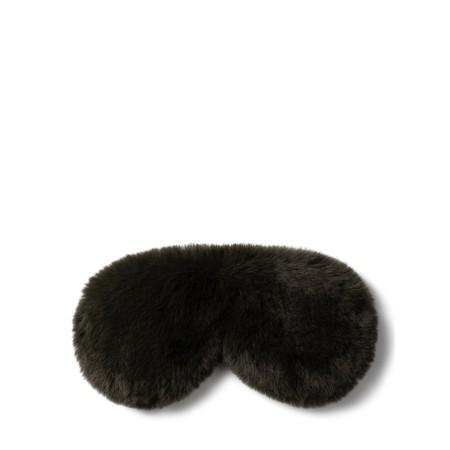 Chalk Home Liz Luxury Faux Fur Sleep Mask - Green
