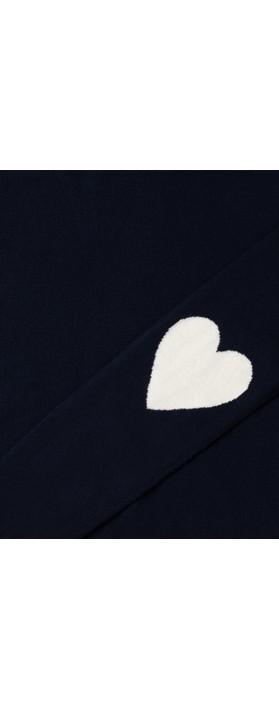 Chalk Esme Heart on Sleeve Jumper Navy / Ecru
