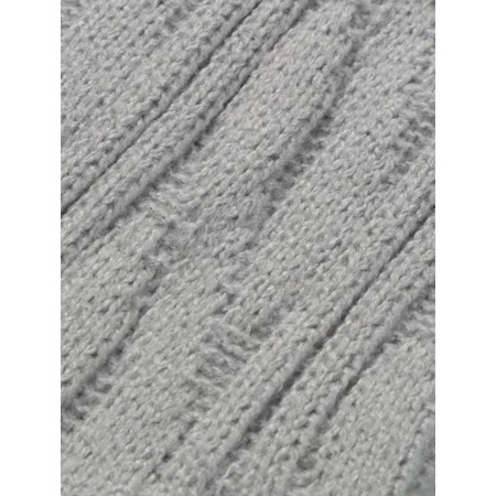 Chalk Cosy Cable Socks - Metallic