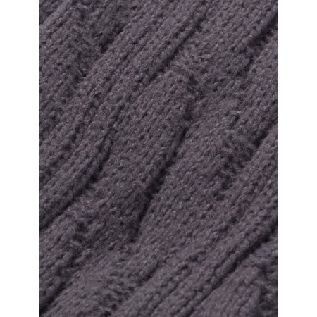 Chalk Cosy Cable Socks - Black