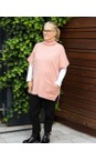 Amazing Woman Blusher Piper Roll Neck Poncho