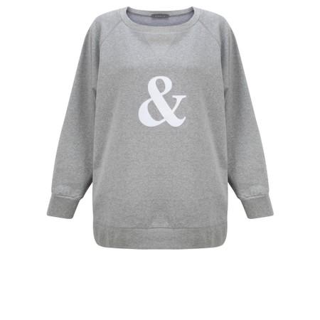 Chalk Ruby Ampersand Sweatshirt - Grey