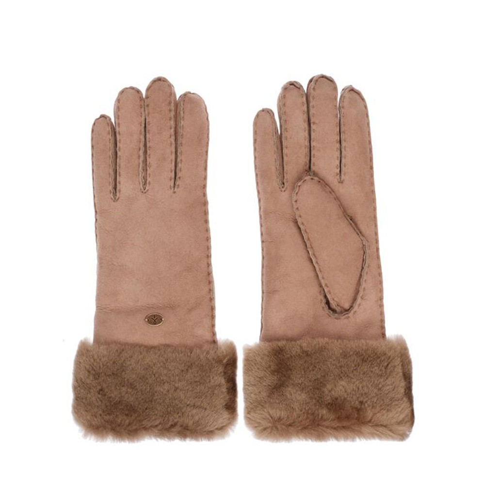 EMU Australia Apollo Bay Sheepskin Gloves Mushroom