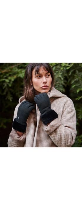 EMU Australia Apollo Bay Sheepskin Gloves Black