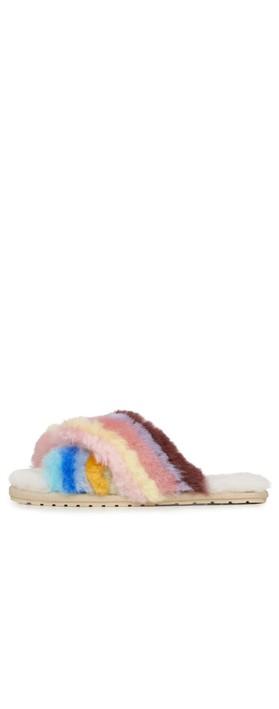 EMU Australia Mayberry Rainbow Sheepskin Slipper Rainbow Multi