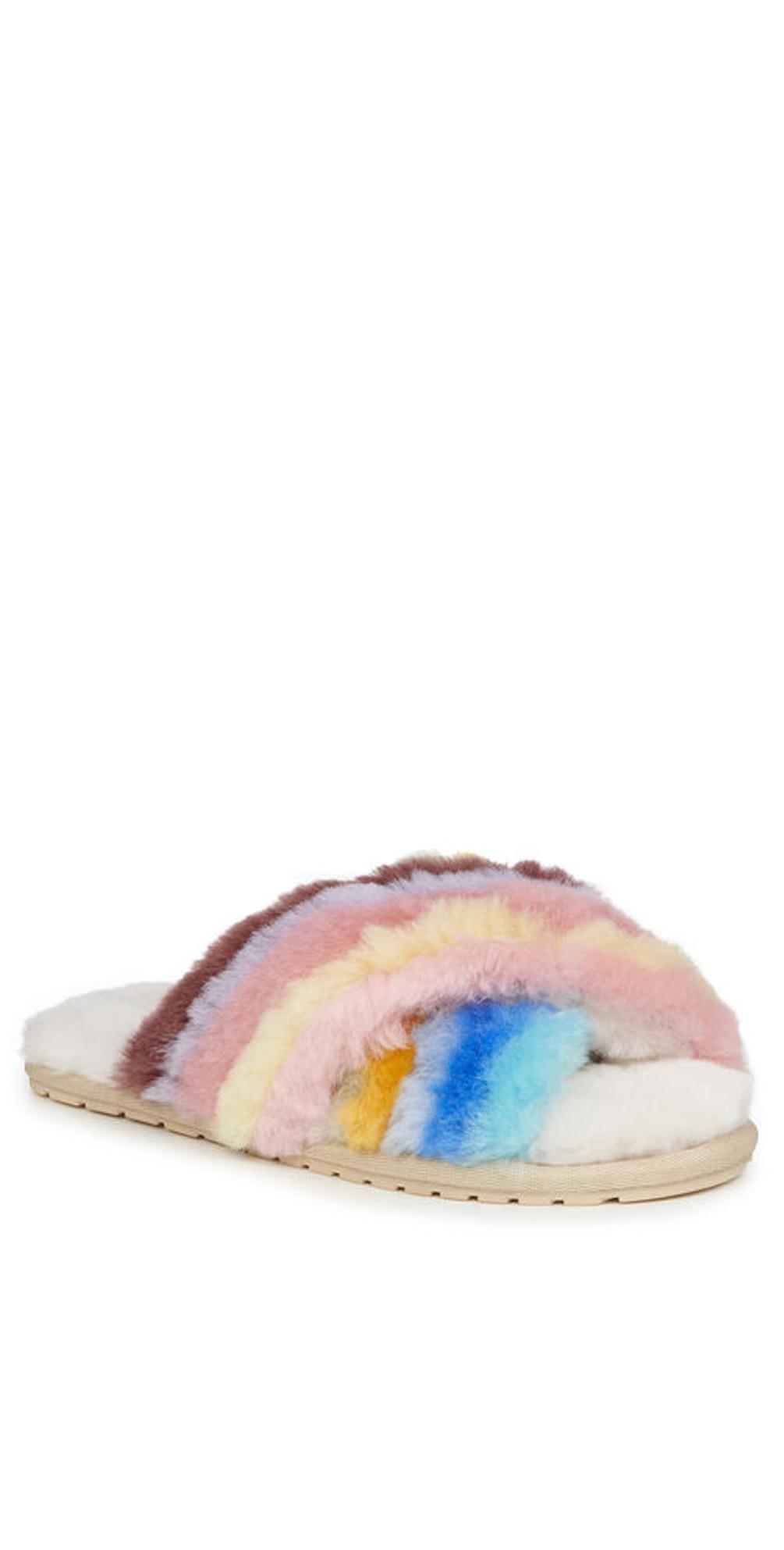 Mayberry Rainbow Sheepskin Slipper main image