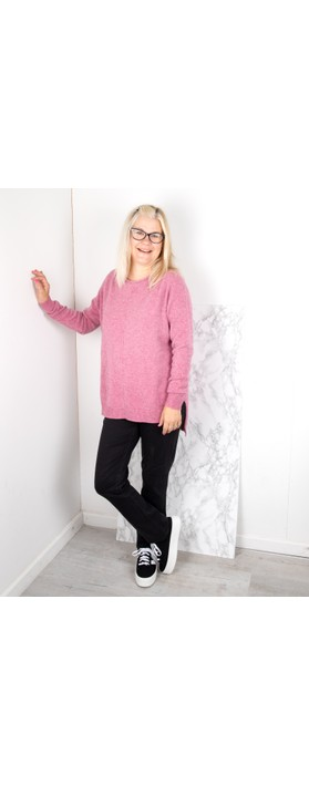 Amazing Woman Maggie Seam Front Supersoft Jumper Orchid