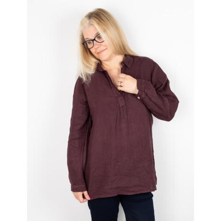 Amazing Woman Bela Long Sleeve Linen Top - Purple