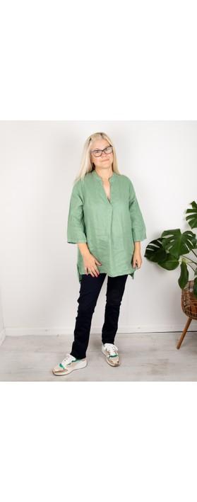 Amazing Woman Lydia Linen Top Avocado