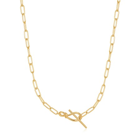 Ania Haie Knot T Bar Chain Necklace - Gold