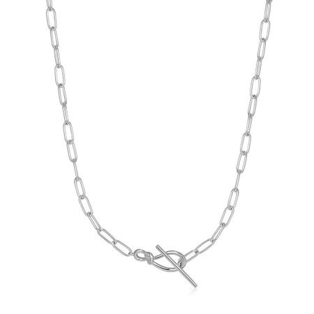 Ania Haie Knot T Bar Chain Necklace - Metallic
