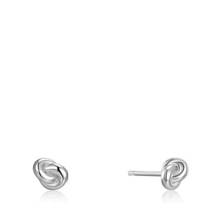 Ania Haie Knot Stud Earring - Metallic