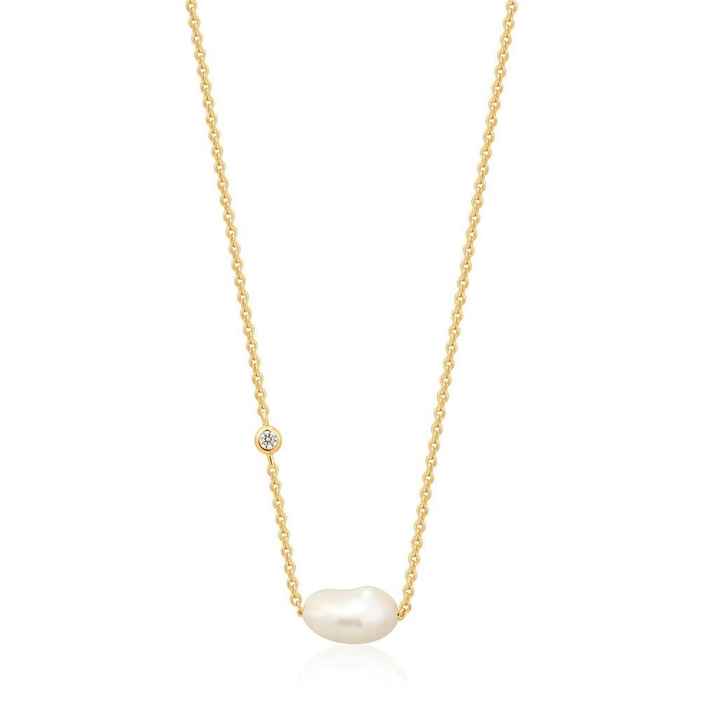 Ania Haie Pearl Necklace Gold