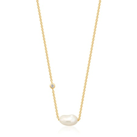 Ania Haie Pearl Necklace - Gold