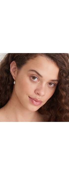 Ania Haie Pearl Mini Hoop Earring Gold