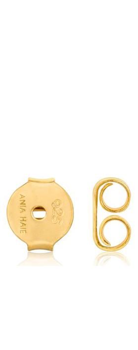 Ania Haie Tidal Abalone Mini Hoop Earring Gold
