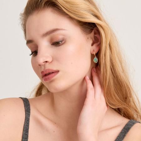 Ania Haie Tidal Abalone Mini Hoop Earring - Gold