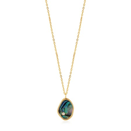 Ania Haie Tidal Abalone Necklace  - Gold