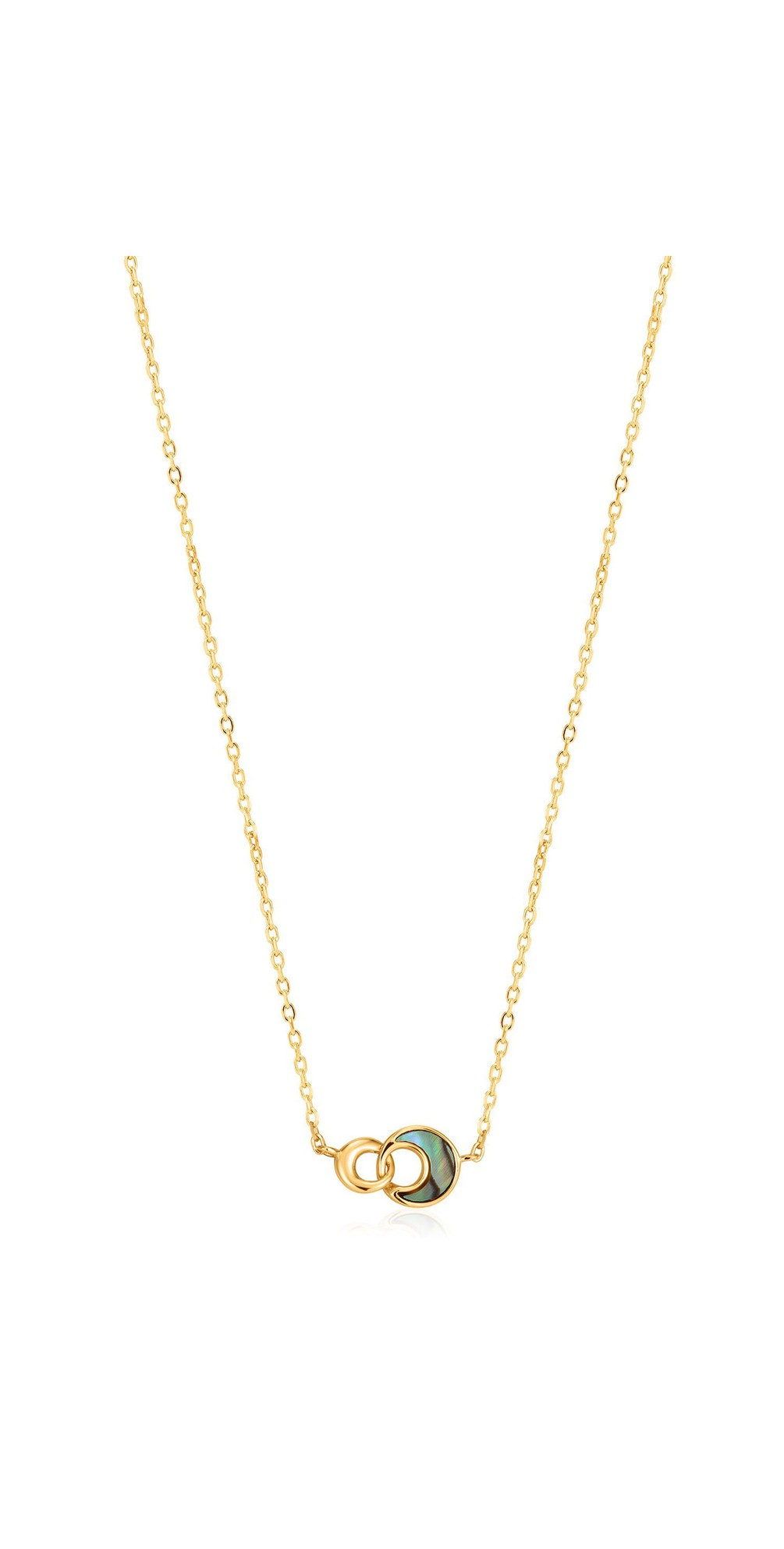 Tidal Abalone Crescent Link Necklace main image