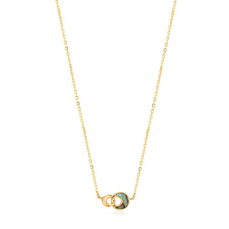 Ania Haie Tidal Abalone Crescent Link Necklace - Gold