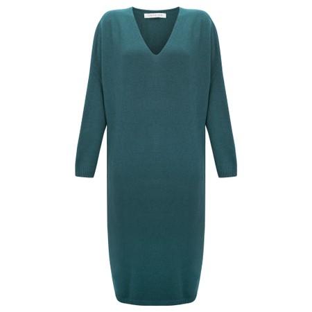Amazing Woman Pasha V Neck Oversized Dress - Blue