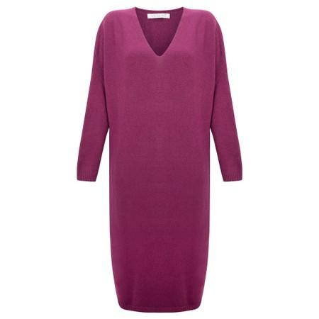 Amazing Woman Pasha V Neck Oversized Dress - Purple
