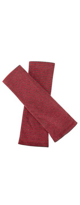 Mama B Cotto M M Narrow Stripe Glove Anthra / Melograno