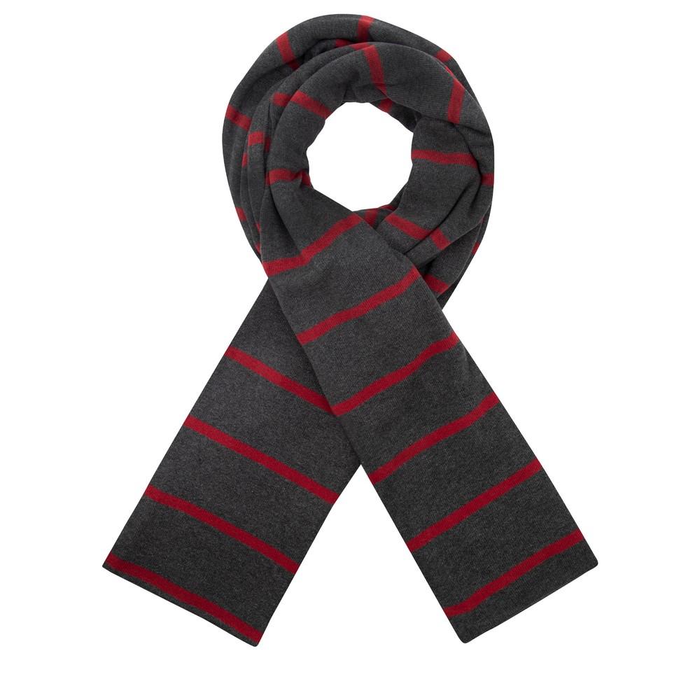 Mama B Segovia RG Wide Stripe Fleece Scarf Anthra / Melograno