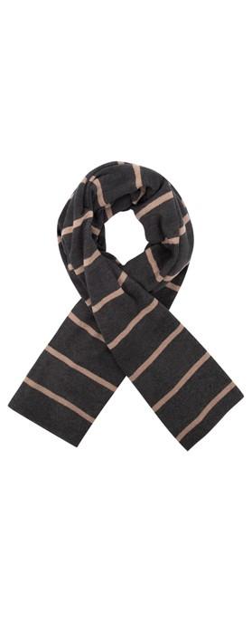 Mama B Segovia RG Wide Stripe Fleece Scarf Nocciola / Anthra