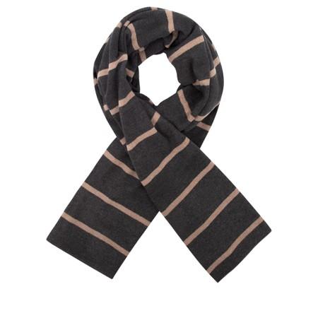 Mama B Segovia RG Wide Stripe Fleece Scarf - Grey