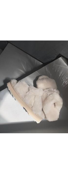EMU Australia Wobbegong Sheppskin Slider Slipper Natural