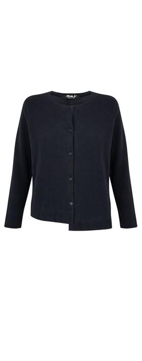 Mama B Crema U Plain Fleece Cardigan Blu