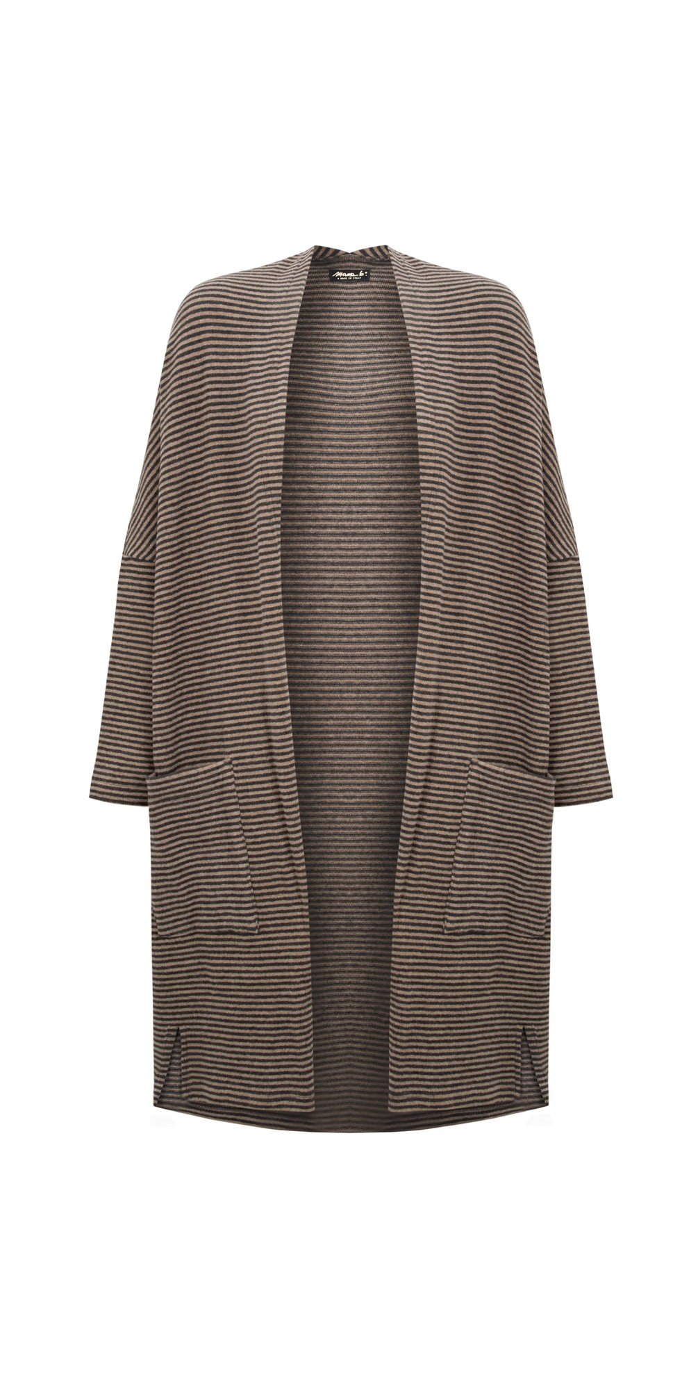 Souffle M Narrow Stripe Fleece Cardigan main image