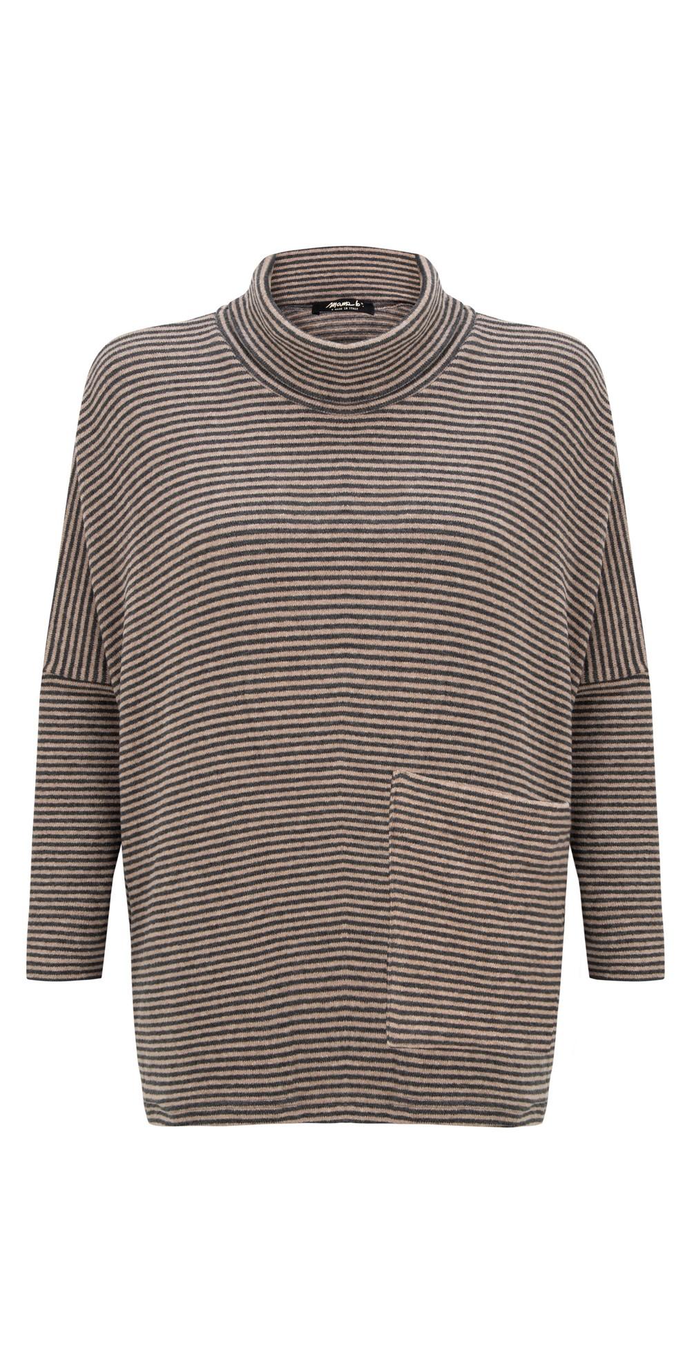 Bigne M Narrow Stripe Fleece Jumper main image