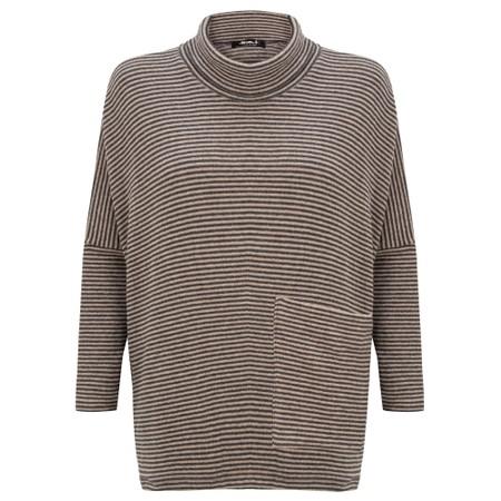Mama B Bigne M Narrow Stripe Fleece Jumper - Grey