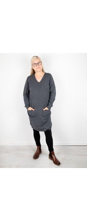 Amazing Woman Pollie V Neck Dress Charcoal