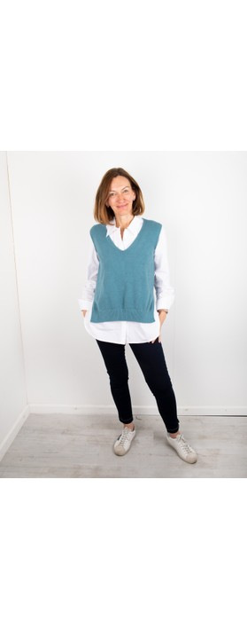 Amazing Woman Pixie V Neck Knitted Vest Petrol