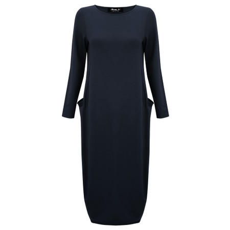 Mama B Tartufo Tefes Efeso Medium Jersey Dress - Blue