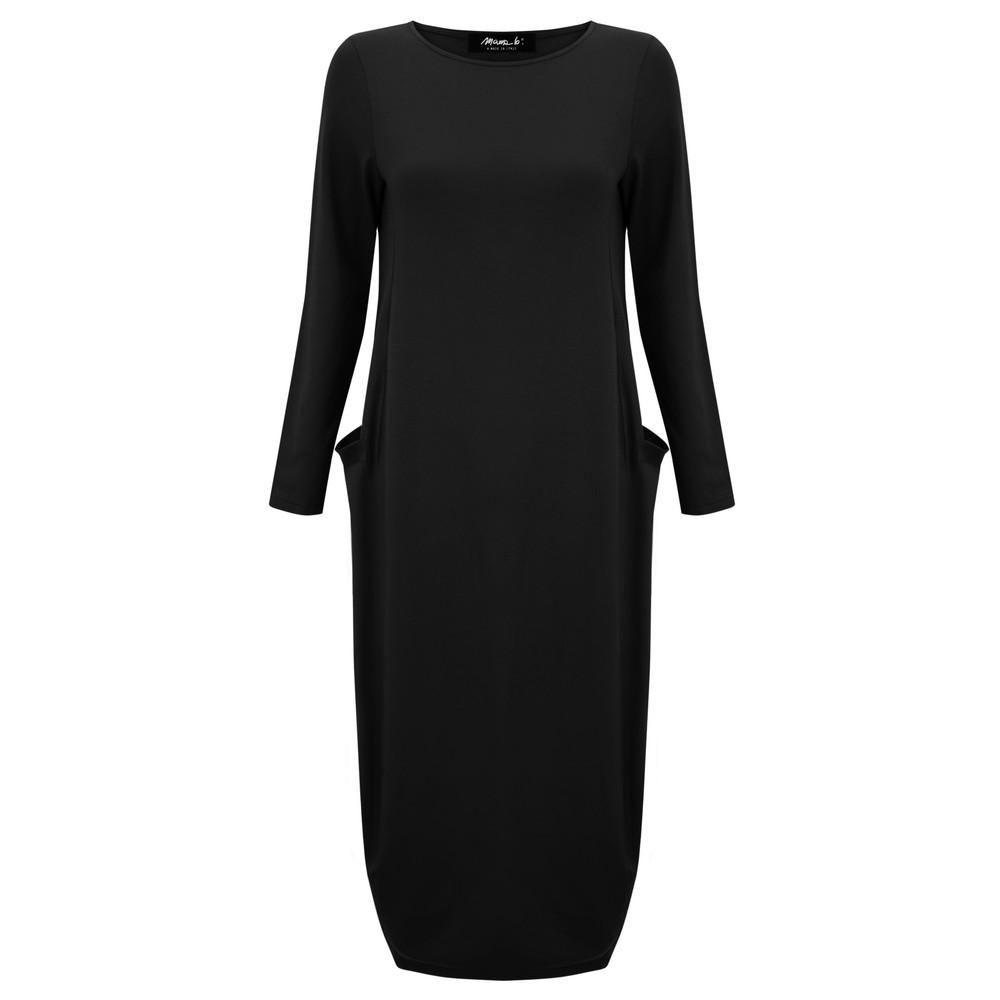 Mama B Tartufo Tefes Efeso Medium Jersey Dress Nero