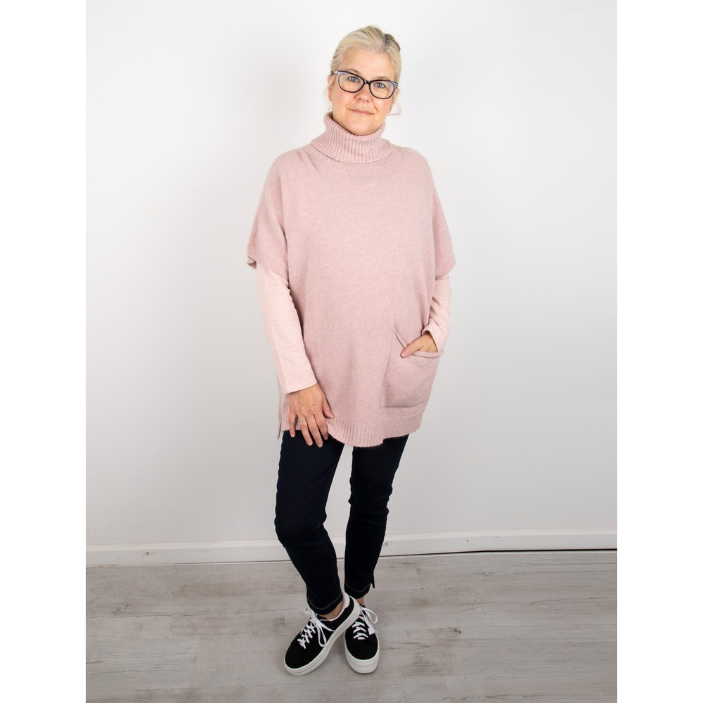 Amazing Woman Piper Roll Neck Poncho Antique Rose