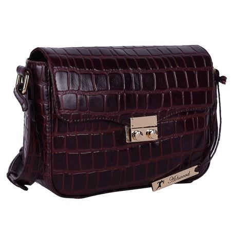 Ashwood Lansdowne Cross Body Leather Bag - Red