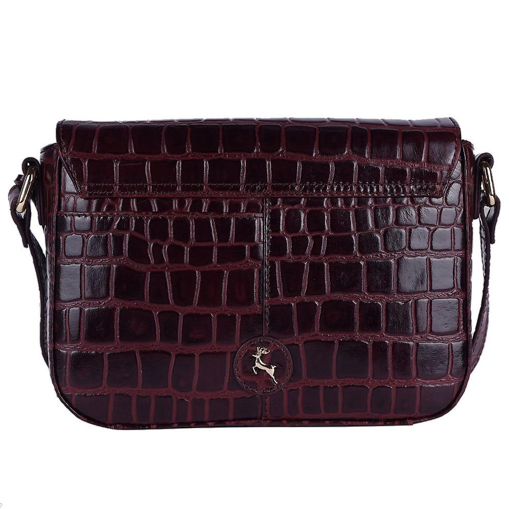 Ashwood Lansdowne Cross Body Leather Bag Bordo