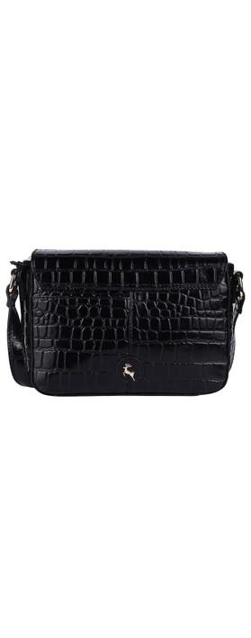 Ashwood Lansdowne Cross Body Leather Bag Black