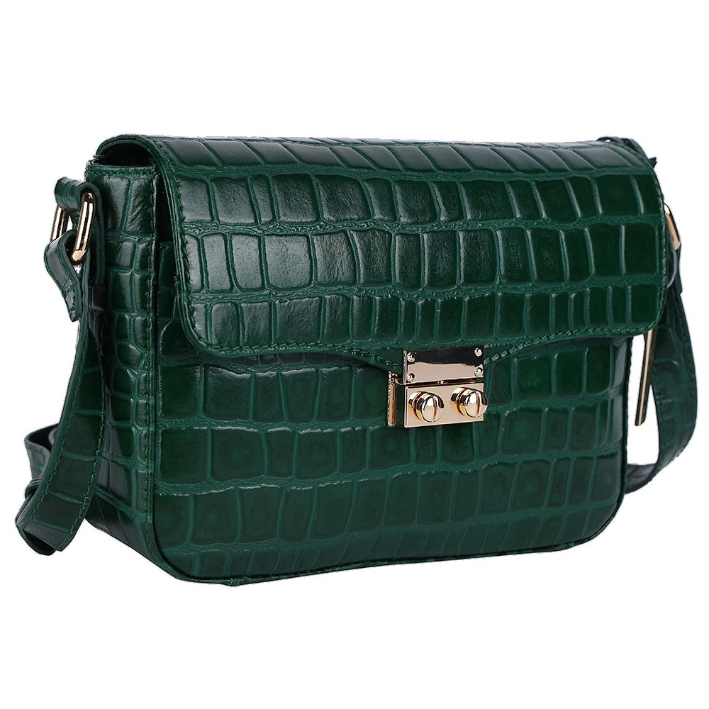 Ashwood Lansdowne Cross Body Leather Bag Green