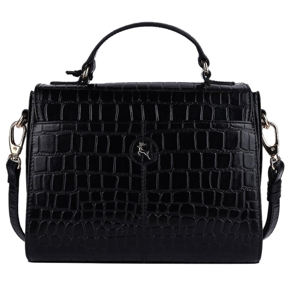 Ashwood Charlton Leather Handbag Black