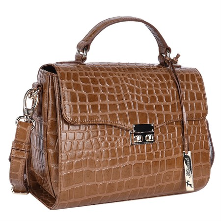 Ashwood Charlton Leather Handbag - Brown