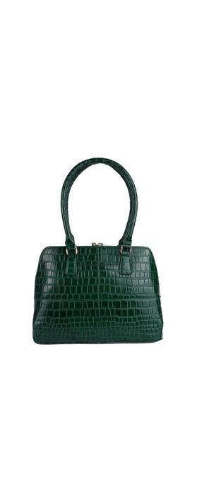 Ashwood Montpelier Leather Bag Green