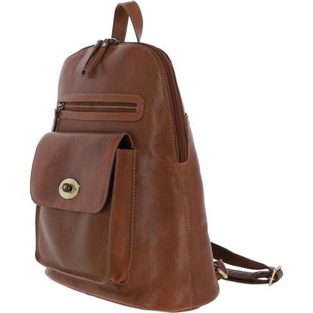 Ashwood Stanton Hand Waxed Leather Rucksack - Brown