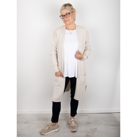 Amazing Woman Purdie Long Cardi - Off-White