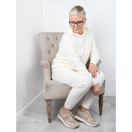 Chalk Lucy Supersoft Knit Lounge Pant - Off-White